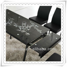 L808DD-8 Glass Kitchen Table/Industrial Metal Dining Table Legs for Modern Home