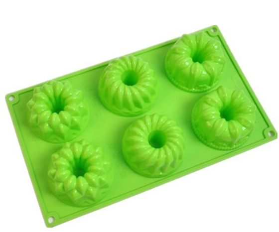 2017 hot selling 6 cup Silicone Fancy Bundt Cake mold
