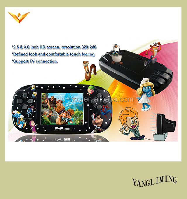 TV video game player PVP game console with 100 retro classic games 8 bit 3 inch screen