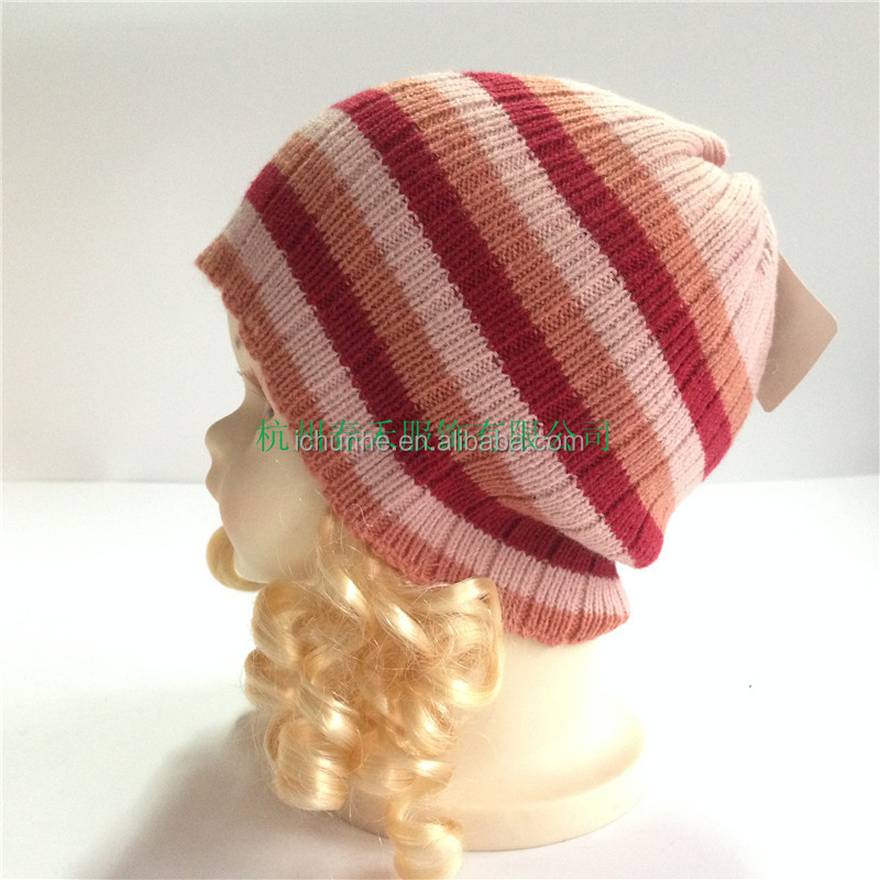new acrylic lovely girl's knitted kids baby hats factory