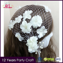 New Fashion Wedding Flower Hair Net For Wedding Decoration