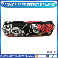 Novelty schools&offices custom pencil bag zipper canvas pen bag