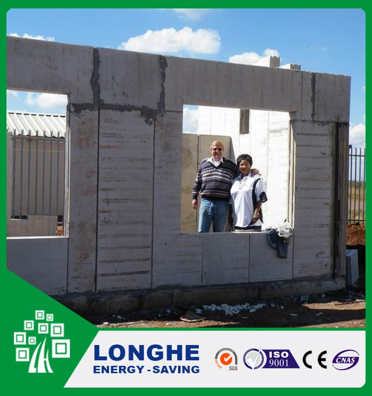 Longhe lightweight aac wall panel precast concrete blocks price