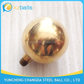 with screw threaded nut 51 63 76 80 90mm brass hollow balls