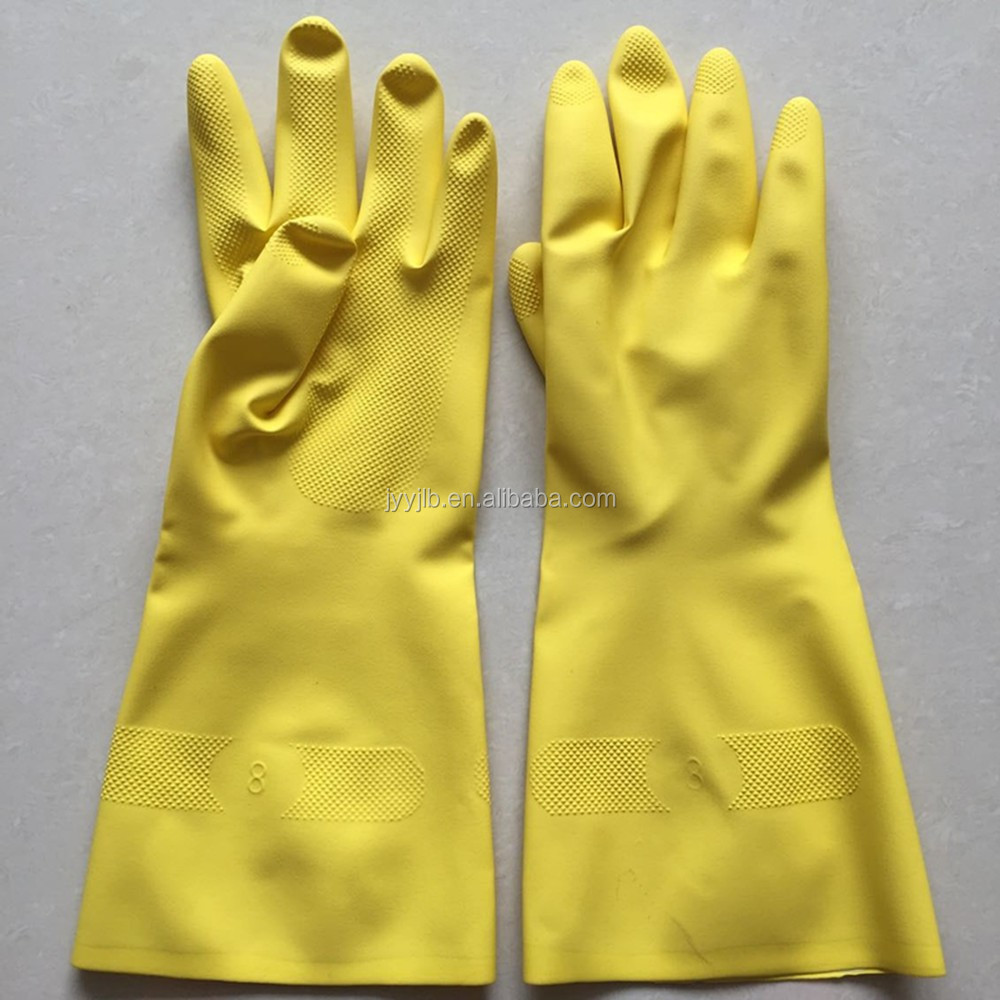 YJ-<strong>M10</strong> Yellow Color Household <strong>Rubber</strong> Nitrile Gloves