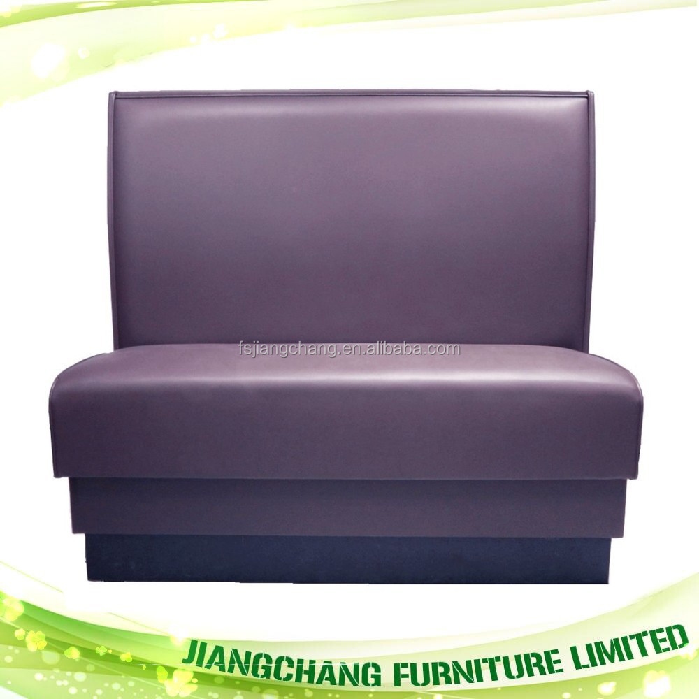 Fashion Design Single Leather Restaurant Sofa Booth