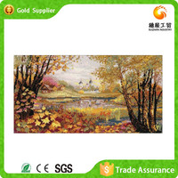 Famous exporter product charming diy embroidery of diamond canvas painting pretty scenery diamond painting