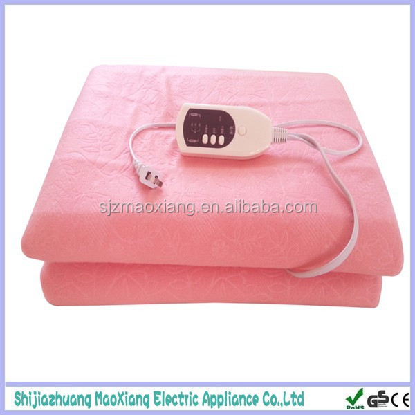 Temperature Controller 100 % Polyester Electric Warm Blanket for Winter