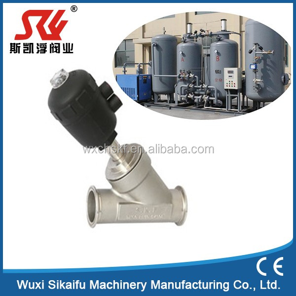 SS316 Thread Type Angle Seat Valve for Nitrogen Generator