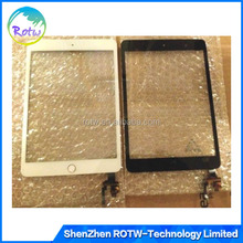 Front Panel Glass Touch Screen Digitizer +Home Button Assembly for iPad mini 3