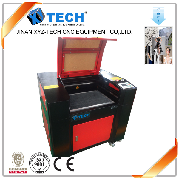 XJ6040 Widely used leather shoes laser cutting machine/laser cutting machine for plastic