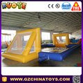 Factory price soap football field inflatable football pitch for sale