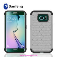 Soft Silicone Protective Cases For Samsung S6 Edge, Crystal Rhinestone Phone Cases For Galaxy S6 Edge