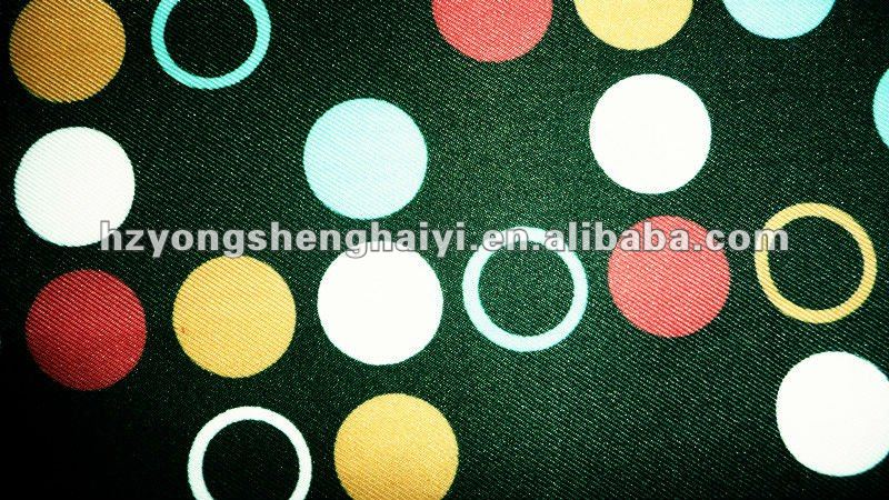 polyester 150D twill printed fabric for bag