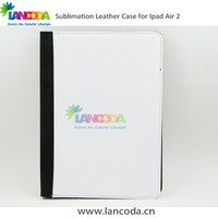 handsfree flip case sublimation leather tablet cover for ipad5 6 ipad air 2