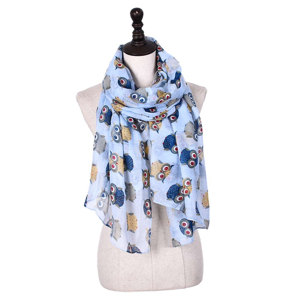 China manufacturers spring/summer/fall ladies shawl floral women scarves cotton