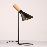 a table lamp for bedroom /study wooden finish steel E27*1 table lamps china supplier