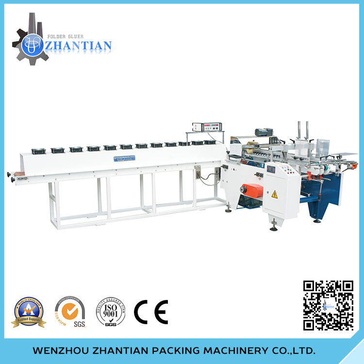 ZB-700 paper board folding and gluing machine for cup sleeve