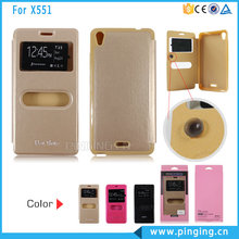 Bulk window open mobile phone case for infinix X551, flip leather case for infinix X551
