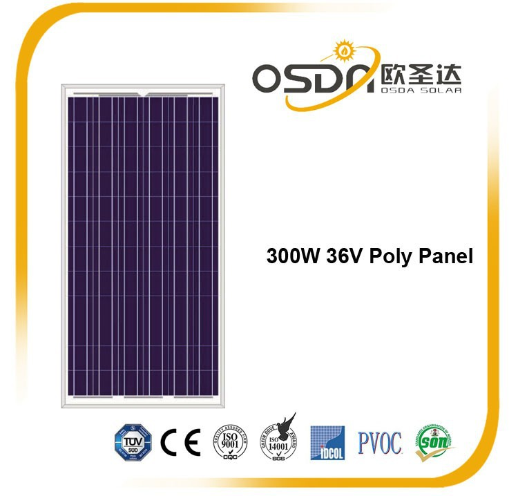 300W 72 cells Poly crystalline PV solar panel with stock in Europe