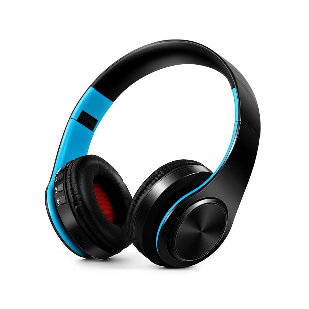 LPT 660 Blue tooth Headphone With Mic Wireless Headphones Support TF Card FM Radio Bass Headset For smartphones as gift