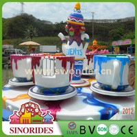 Amusement Park Equipment coffee /tea cup rides from direct manufacturer