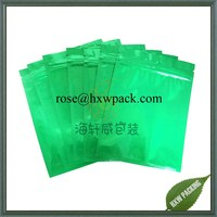 green&blue foil plastic bag with zipper for tobacco packaging