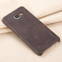 [X-Level] 2017 Top Selling PU Leather Phone Case Back Cover for Samsung Galaxy A3 A5 A7 2017