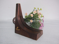 wooden business card holder made from natural wood suitable for desk decoration