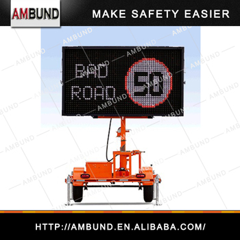 12V Led Dispaly Matrix Advertising Message Board Road Safety Traffic Warning VMS Sign Display Trailer Variable Message Sign