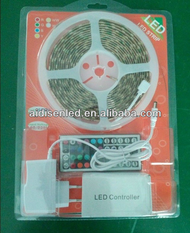 5M RGB 5050 Flexible Waterproof 300 Led Strip Light +24 Keys IR Remote controller+power adaptor