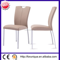 all KD leather dining chair with metal legs