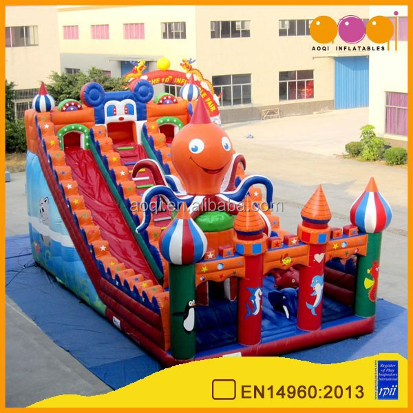 Hot sale bouncy castle inflatable octopus water slide for sale