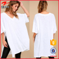 New design fashion top white loose fit top for women