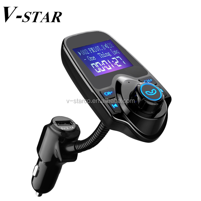 FM Transmitter/Bluetooth Wireless Radio Adapter Audio Receiver Stereo Music Tuner Modulator Car Kit with USB Charger
