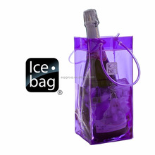 Wholesale custom transparent plastic pvc wine Bag with logo design