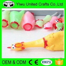Squeaky Pet Toy Shrilling Chicken Toy Plastic Chickens