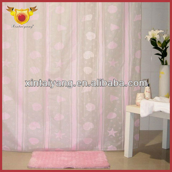 Pink Girls Bath Drapes New Colored Lace Curtains