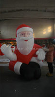 hot sale outdoor decoration inflatable sitting christmas santa