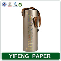 Customized paper wine tubes wine packaging box wine cardboard tube