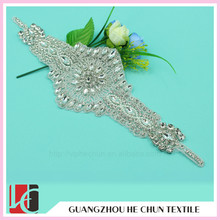 HC-0188 Hechun Rhinestone Stone Bling Beaded Applique for Wedding Dress Strap