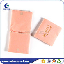 Small Pink Customized Jewelry Velvet Pouch With Magnetic Button