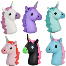 Creative Gifts Cute 2600mah Unicorn power bank Portable Powerbank Charger 18650 Battery