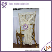 19773 ivory wholesale fancy cheap wedding lace chair sashes