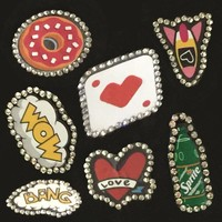 Best gifts clothing decorative pu glass beaded colored reusable patches