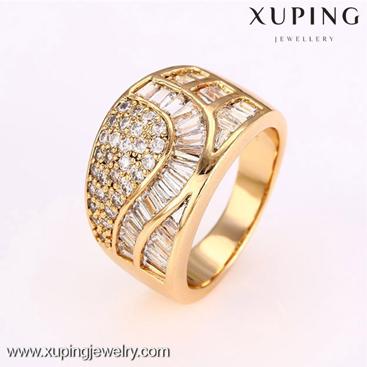 12698 Fashion high quality cheap 18k gold color latest design diamond ring