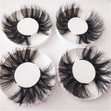 Wholesale 25MM Mink Eyelashes Vendor 3D Mink Lashes 100% Real Fur Luxury Eyelashes with Private Label Packaging