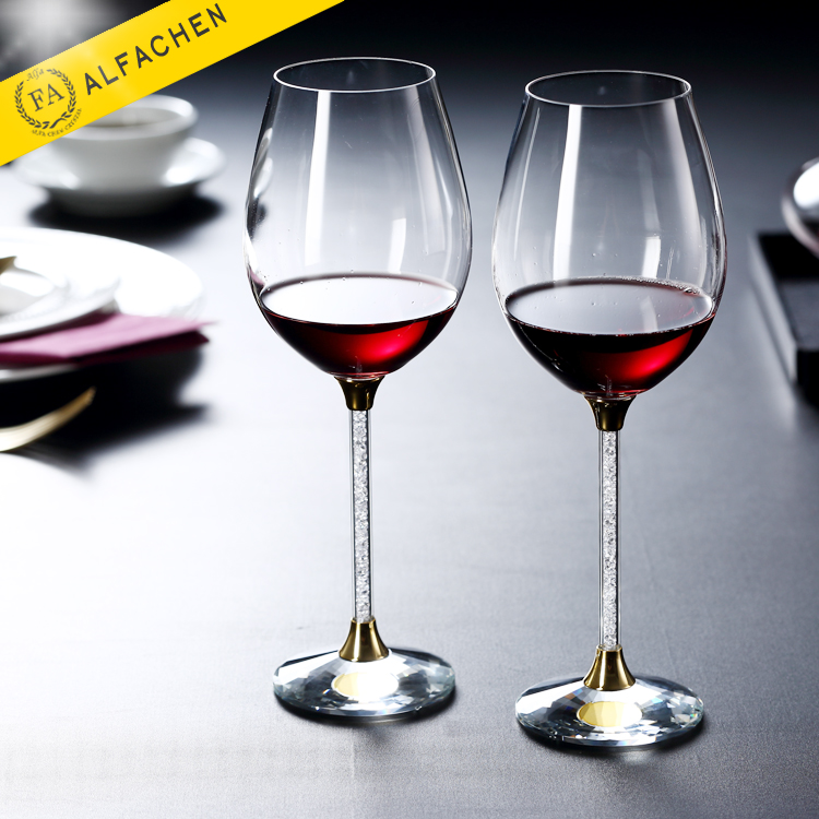 16oz Handmade Wedding Crystal Stemware Glass Cups for Red Wine
