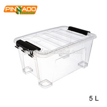 5L Multi-Function New Design Small Clear Plastic Storage Box With Lid