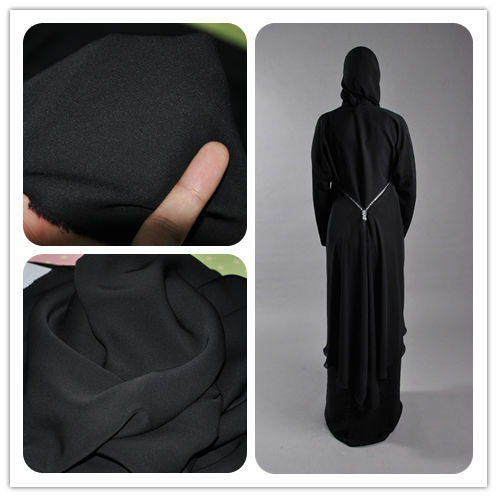 Latest fashion Abaya Fabrics Formal black nida